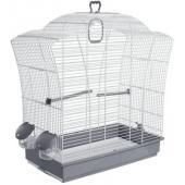 Клетка для птиц бело-серая 57*27*57,5 см, (621)