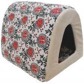 Дом Туннель лен + мебельная ткань (бежевый), 40*34*34 см