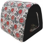 Дом Туннель лен + мебельная ткань (черный), 40*34*34 см