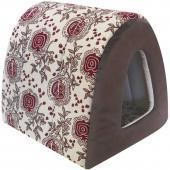 Дом Туннель лен + мебельная ткань (коричневый), 40*34*34 см