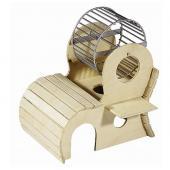 Домик для грызунов с колесом 17*13*h17,5 см.