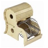 Домик для грызунов с колесом 17*13*h16,5 см.