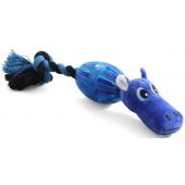 """Игрушка """"Бегемот в броне"""" для собак, полиэстер/хлопок/резина, 22 см"""