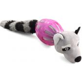 """Игрушка """"Енот в броне"""" для собак, полиэстер/резина, 35 см"""