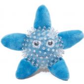 """Игрушка """"Морская звезда в броне"""" для собак, полиэстер/резина, 15 см"""