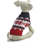 """Свитер """"Винтаж"""" для собак, акрил, красно-черный с рисунком, XS ( 20 см. )"""