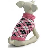 """Свитер """"Классика"""" для собак, акрил, розовый с рисунком, XS ( 20 см. )"""
