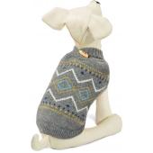 """Свитер """"Геометрия"""" для собак, акрил, серый, XS ( 20 см. )"""