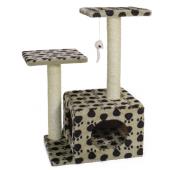 Домик-когтеточка для кошек (TM04), 45*33*70 см