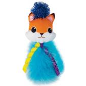 """Игрушка """"Лисёнок"""" для кошек, полиэстер/перо, 13,5 см"""