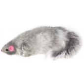 """Игрушка """"Мышка серая"""", для кошек, натуральный мех, 14 см"""