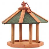 Кормушка деревянная, подвесная, для уличных птиц, 43,7*43,7*39,5 см