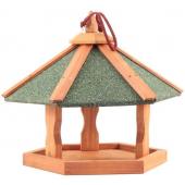 Кормушка деревянная, подвесная, для уличных птиц, 47,5*47,5*36 см