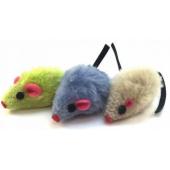 """Игрушка """"Мышка"""" цветная, для кошек, плюш, 5 см, 1 шт"""