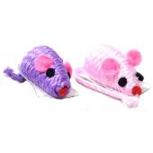 """Игрушка """"Мышка веревочная"""" цветная, для кошек, 5 см, 1 шт."""