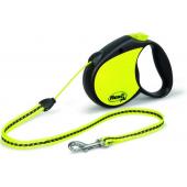 Рулетка-трос светоотражающая для собак до 20 кг, 5 м (Neon Reflect M cord 5m)