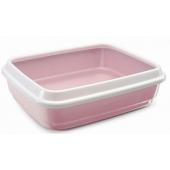 """Туалет с высоким бортом для кошек """"JERRY"""", пепельно-розовый, 50*40*14,5 см"""