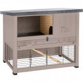 Клетка RANCH 100 REST для содержания кроликов на улице, деревянная (сизо-серая) 95 x 64.5 x h 84.5 см 57090011