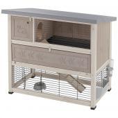 Клетка RANCH 120 PLUS для содержания кроликов на улице, деревянная 117*69*101 см 57091000