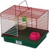 """Клетка для грызунов """"Джунгарик"""" с колесом и миской (511), 24*19*20 см"""