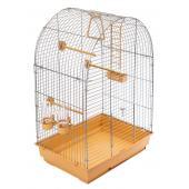 ECO Клетка для птиц КЕША разборная с наполнением, 42*30*65см, бежевый поддон