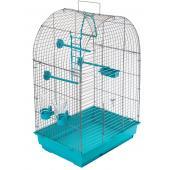 ECO Клетка для птиц КЕША разборная с наполнением, 42*30*65см, бирюзовый поддон