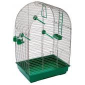 ECO Клетка для птиц КЕША разборная с наполнением, 42*30*65см, изумрудный поддон