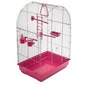 ECO Клетка для птиц КЕША разборная с наполнением, 42*30*65см, рубиновый поддон