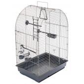 ECO Клетка для птиц КЕША разборная с наполнением, 42*30*65см, серый поддон