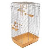 ECO Клетка для птиц ТОША разборная с наполнением, 41*30*76см, бежевый поддон