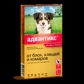Адвантикс Капли для собак 10-25кг от блох, клещей, 1 пипетка 2,5мл