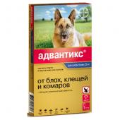 Адвантикс Капли для собак от 25кг от блох, клещей, 1 пипетка 4мл