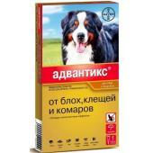 Адвантикс Капли для собак 40-60кг от блох, клещей, 1 пипетка 6мл