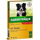Адвантейдж капли от блох для собак от 10 до 25 кг, 4 пипетки по 2,5мл