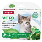 Капли Био от блох, клещей и комаров для котят, 3 пипетки