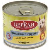 Консервы для собак, индейка с грушей