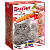 Кусочки в желе для кошек мясной микс