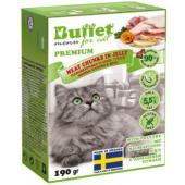 Кусочки в желе для кошек с домашней птицей