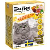 Кусочки в желе для кошек с куриной печенью