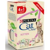 Промо-набор 4+1 Паучи для котят Кусочки в желе с ягненком, индейкой