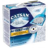 Наполнитель Catsan Active Fresh для кошачьего туалета, комкующийся, 5л