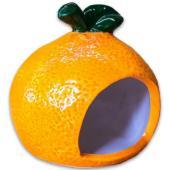 """Керамический домик """"Апельсинка"""" для грызунов, 9*7,5*9см"""