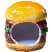 """Керамический домик """"Бургер"""" для грызунов, 8*8*9см"""