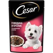 Паучи для взрослых собак, с говядиной, кроликом и шпинатом в соусе