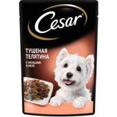 Паучи для взрослых собак, с тушеной телятиной и овощами в желе