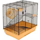 """Клетка для грызунов """"Саша-3"""" 41*30*45см, 2 этажа, бежевый поддон"""