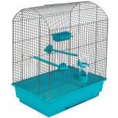 """Клетка для птиц """"РОМА"""", 37*25*46см, бирюзовый поддон"""