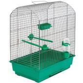 """Клетка для птиц """"РОМА"""", 37*25*46см, изумрудный поддон"""