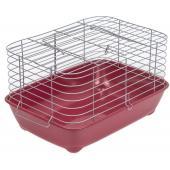 """Клетка для морских свинок """"ПУМБА-1"""" 42*30*h24см, рубиновый поддон"""