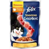 Sensations кусочки в желе для кошек Супервкус Индейка и ягоды